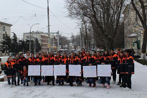 Flashmob în susținerea Serviciului de Urgență 903