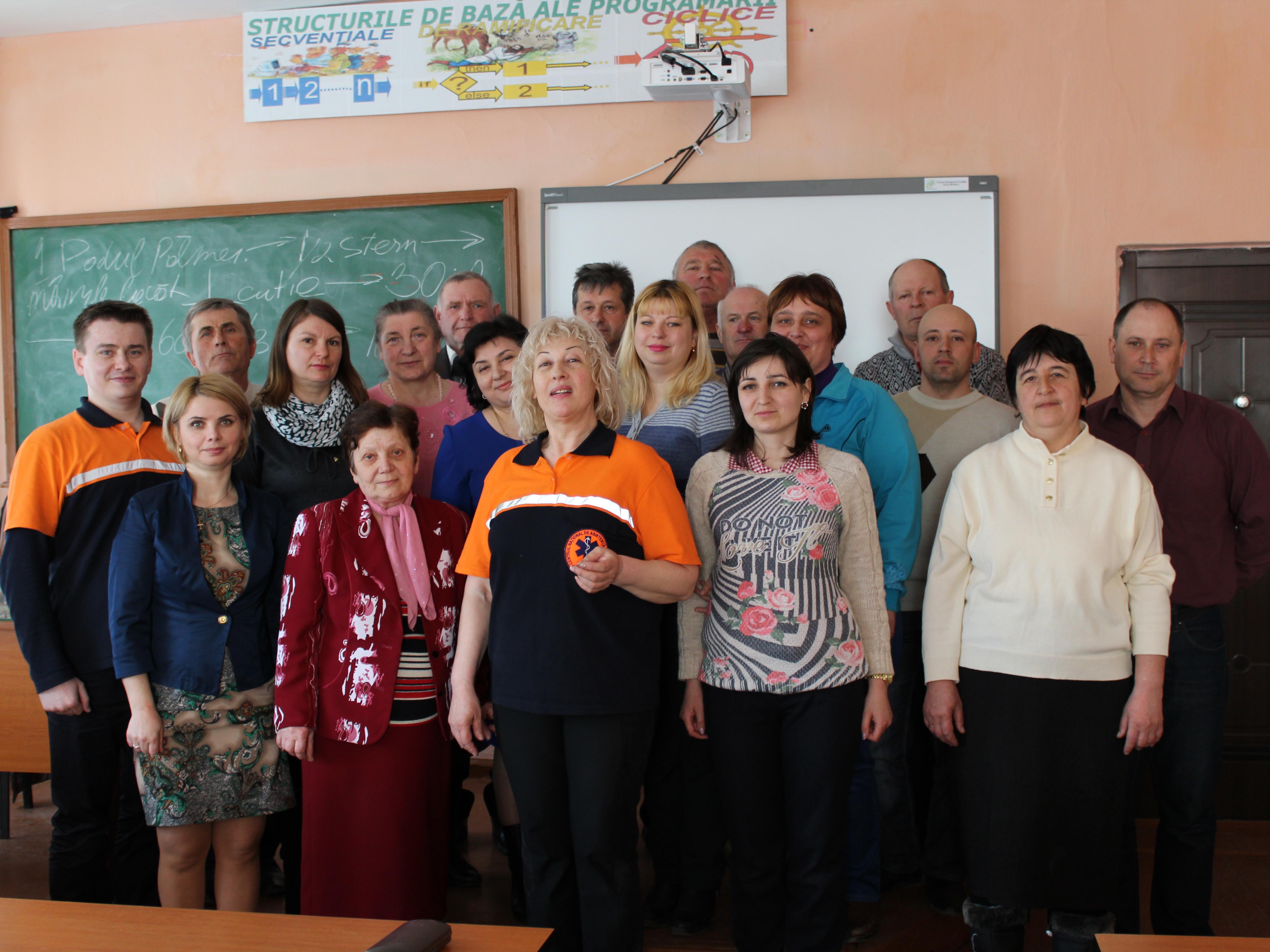Șaisprezece pedagogi din raionul Dubăsari au fost instruiți în acordarea primului ajutor medical