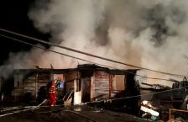 Incendiu pe strada Kiev 5/3 din capitală