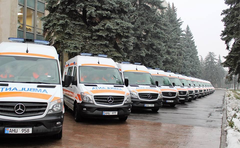Stația AMU Chișinău a primit 35 ambulanțe noi