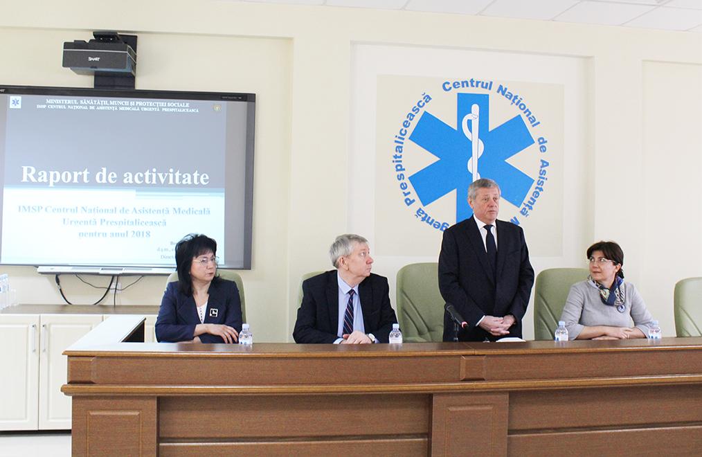 Centrul Național de Asistență Medicală Urgentă Prespitalicească a prezentat raportul de activitate pentru anul 2018