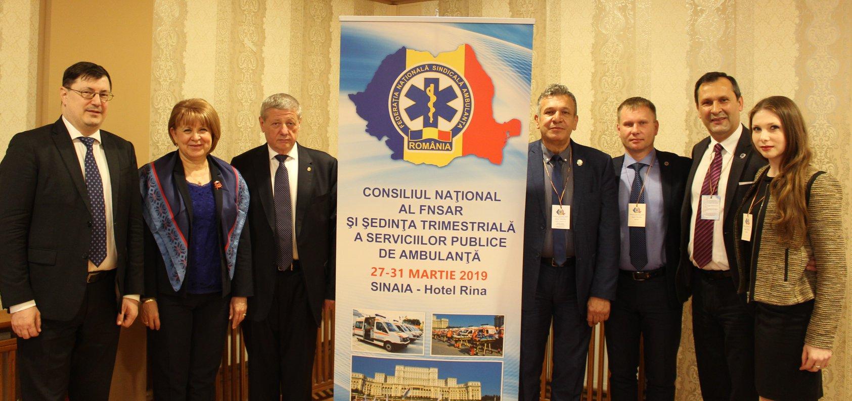 """O delegație a IMSP CNAMUP a participat la Lucrările Federației Naționale Sindicale """"Ambulanța"""" din România"""