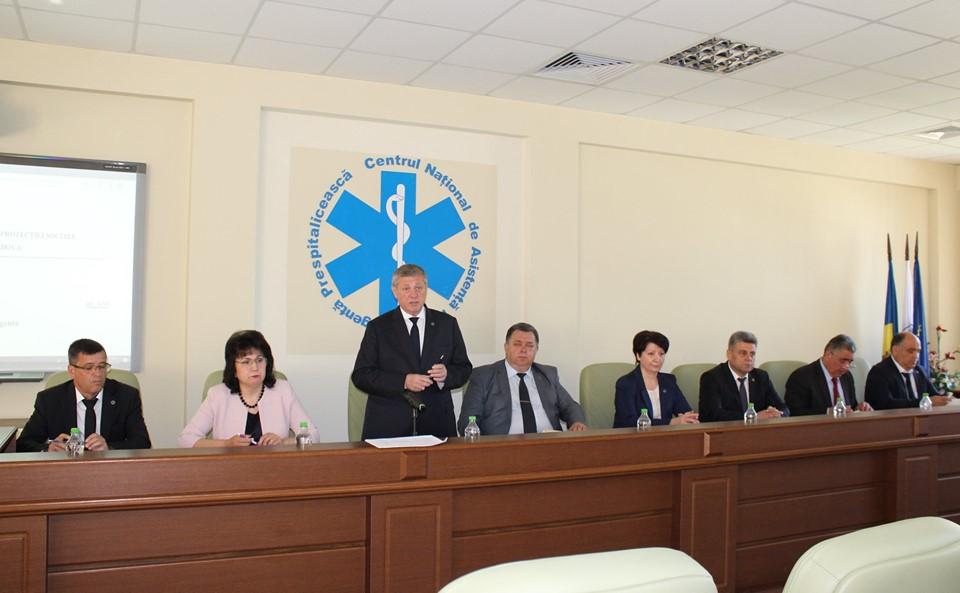 """Ședința cu șefii de subdiviziuni din cadrul IMSP CNAMUP în legătură cu intrarea în vigoare a Ordinului MSMPS al RM nr. 430 """"Cu privire la Serviciul de Asistență Medicală Urgentă Prespitalicească"""""""