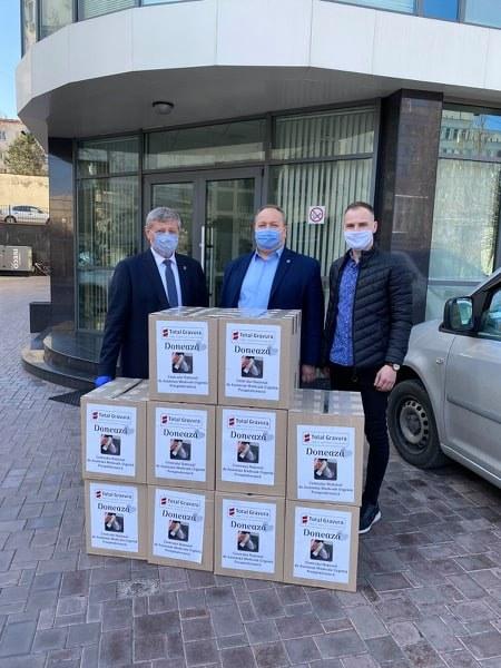 500 ecrane de protecție donate colaboratorilor IMSP CNAMUP