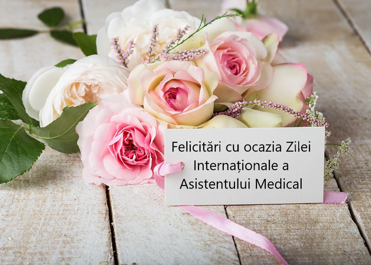 Felicitare cu ocazia Zilei Internaționale a Asistentului Medical