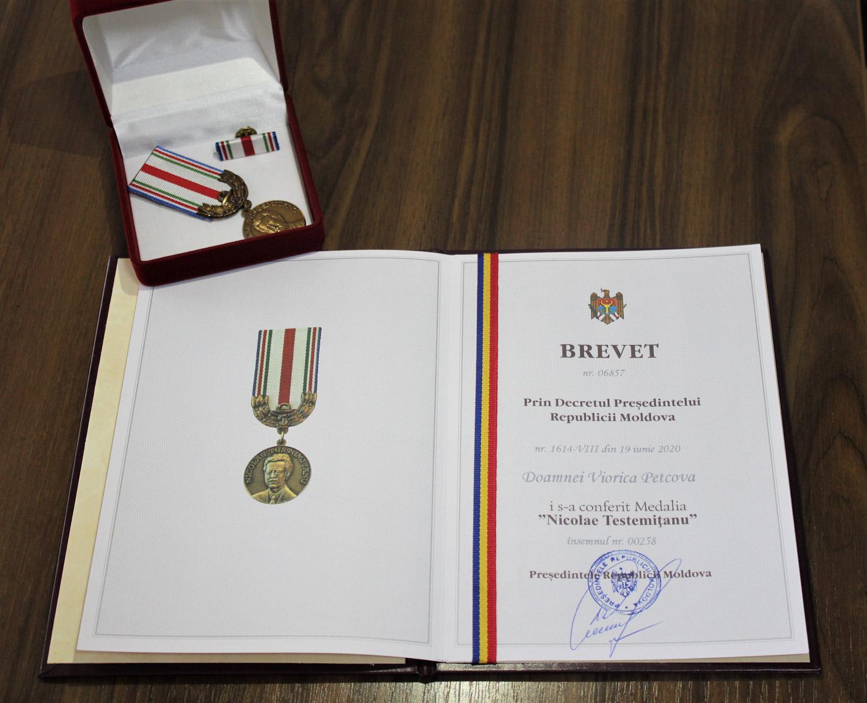 Distincții de Stat pentru colaboratorii IMSP CNAMUP