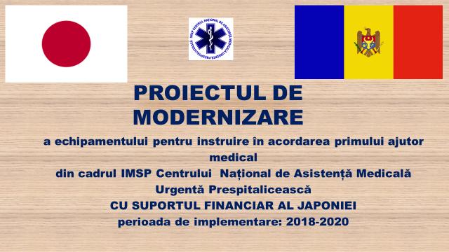 Finalizarea proiectului de modernizare a echipamentului de instruire în acordarea primului ajutor medical